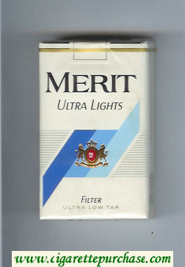 Merit Ultra Lights cigarettes soft box
