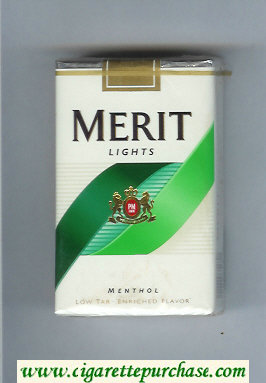 Merit Lights Menthol cigarettes soft box