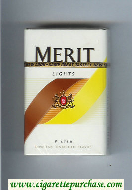 Merit Lights cigarettes hard box