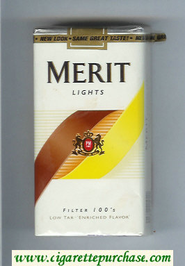 Discount Merit Lights Filter 100s cigarettes soft box