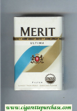 Discount Merit Ultima Filter cigarettes hard box
