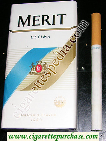 Discount Merit Ultima 100s cigarettes hard box