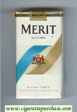 Merit Ultima Filter 100s cigarettes soft box