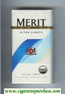 Discount Merit Ultra Lights Filter 100s cigarettes hard box