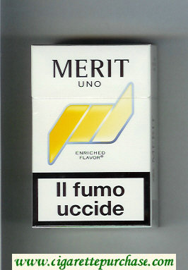 Discount Merit Uno cigarettes hard box