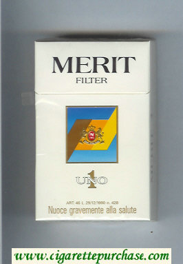 Discount Merit Uno 1 cigarettes hard box