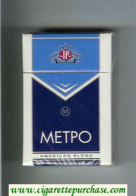 Metro T American Blend cigarettes hard box