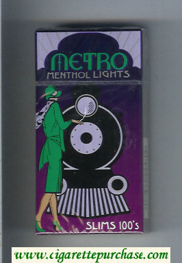 Metro Menthol Lights Slims 100s cigarettes hard box