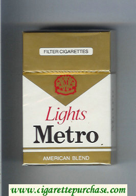 Metro American Blend Lights cigarettes hard box