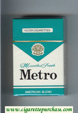 Metro Menthol Fresh American Blend Filter cigarettes hard box