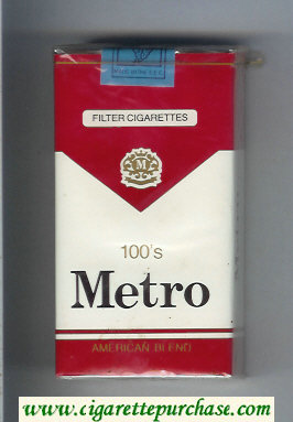 Metro 100s American Blend Filter cigarettes soft box