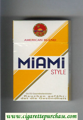 Miami Style American Blend cigarettes hard box