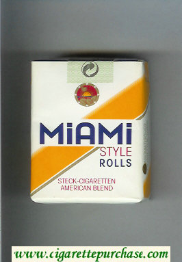 Miami Style Rolls American Blend cigarettes soft box