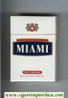 Miami Fine Virginia Rich Natural Tobacco cigarettes hard box