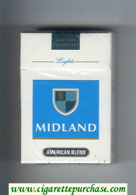 Midland American Blend Lights cigarettes hard box