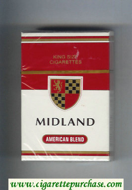 Midland American Blend cigarettes hard box