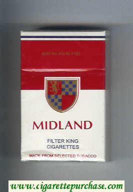 Midland American Blend Filter King cigarettes hard box