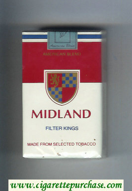 Midland American Blend Filter Kings cigarettes soft box