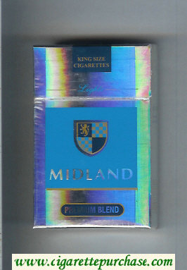 Midland Premium Blend Lights cigarettes hard box