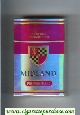 Midland Premium Blend cigarettes hard box