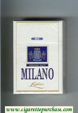 Milano Lights International Quality cigarettes hard box