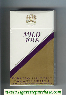 Mild 100s cigarettes hard box