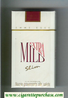 Mild Extra Slim 100s cigarettes hard box