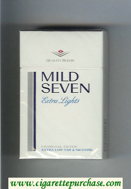 Mild Seven Extra Lights cigarettes hard box
