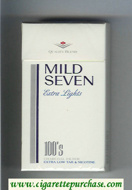 Mild Seven Extra Lights 100s cigarettes hard box