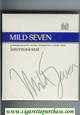 Mild Seven International 100s cigarettes wide flat hard box