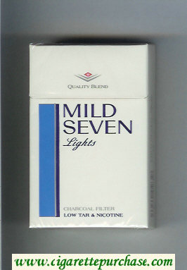 Mild Seven Lights cigarettes hard box
