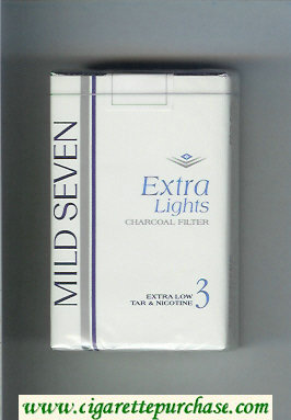 Mild Seven Extra Lights 3 cigarettes soft box