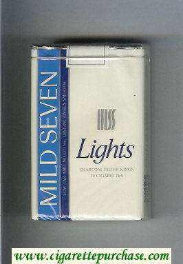 Mild Seven Lights Distinctively Smooth cigarettes soft box