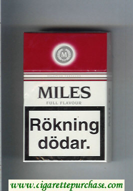 Miles Full Flavour cigarettes hard box