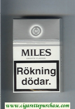Miles Smooth Flavour cigarettes hard box