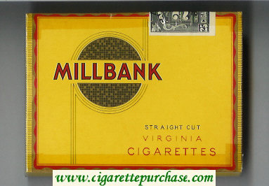 Millbank 25 Straigth Cut Virginia cigarettes wide flat hard box