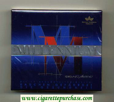 Millenium Edittion 24s wide flat hard box cigarettes