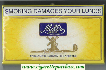 Mills Special 30 cigarettes wide flat hard box