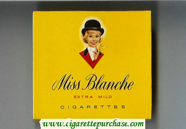 Miss Blanche Extra Mild cigarettes wide flat hard box