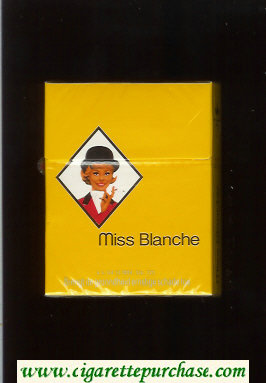 Miss Blanche cigarettes hard box