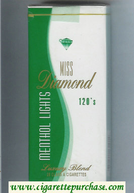 Miss Diamond Menthol Lights 120 cigarettes soft box