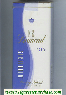 Miss Diamond Ultra Lights 120 cigarettes soft box