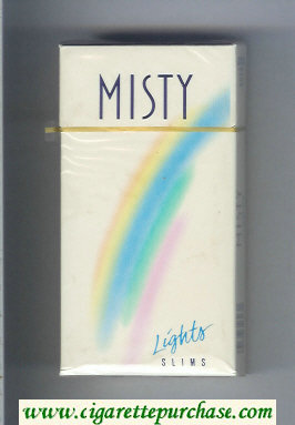 Discount Misty Lights Slims 100s cigarettes hard box