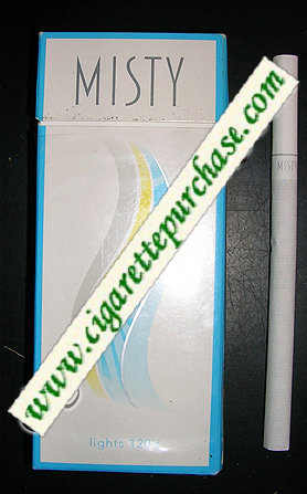 Discount Misty Lights 120s cigarettes hard box