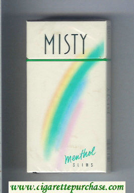 Discount Misty Menthol Slims 100s cigarettes hard box