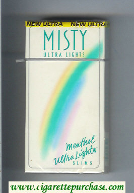 Discount Misty Ultra Lights Menthol Ultra Lights Slims 100s cigarettes hard box