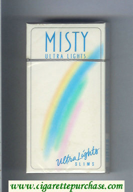 Discount Misty Ultra Lights 100s cigarettes hard box