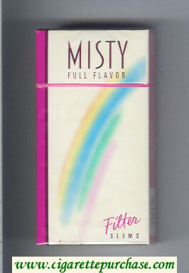 Discount Misty Full Flavor Filter Slims 100s cigarettes hard box