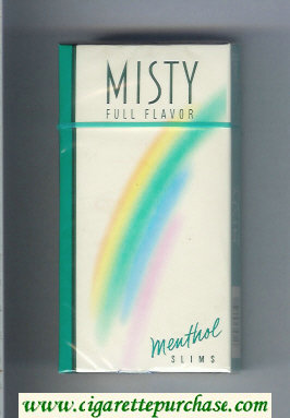 Discount Misty Full Flavor Menthol 100s cigarettes hard box
