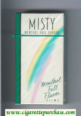 Discount Misty Menthol Full Flavor 100s cigarettes hard box
